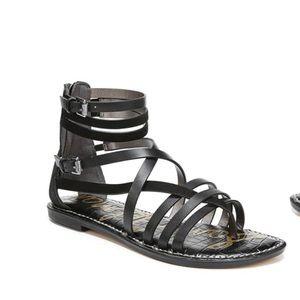 NWT Sam Edelman Ganesa Black Leather Sandal 7.5
